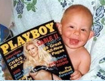 Baby-reading-playboy