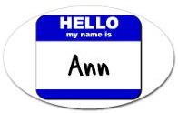Name tag ann
