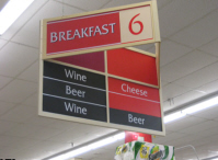 Funny grocery store sign