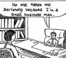 Small business cartoon