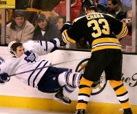 Hard hockey check