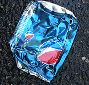 Crushed Pepsi Can