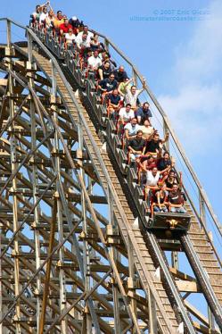 Roller coaster plunge
