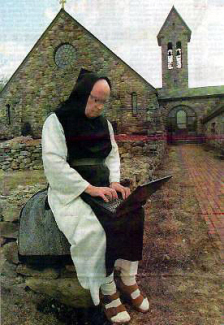 Monk on computer