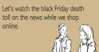 Funny black friday cartoon