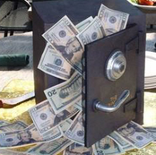 Safe full of cash money