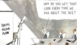 Social media roi cartoon