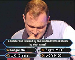 Funny googol_who wants to be a millionaire