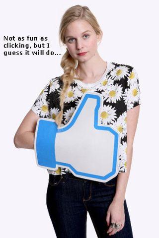 Facebook Like foam hand