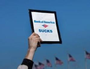 Bank of America sucks sign