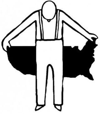 Guy with empty pockets bad US economy