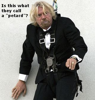 Funny Richard Branson Virgin Stunt