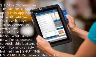 Using ipad to pay at checkout