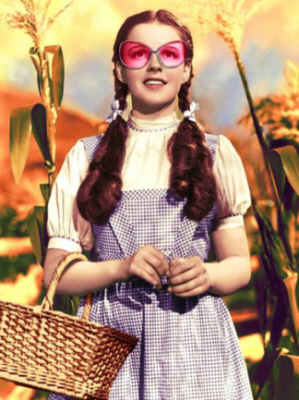 Dorothy wizard of oz rose colored glasses