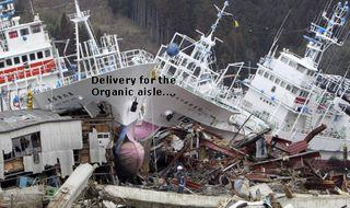 Boats ships crashed wash ashore