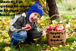 Kid picking-apples