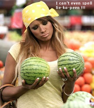 Woman with small melons_water