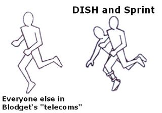 Three_Legged_Race Cartoon DISH Sprint