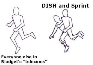 Three_Legged_Race Cartoon DISH Sprint