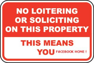No loitering no soliciting sign