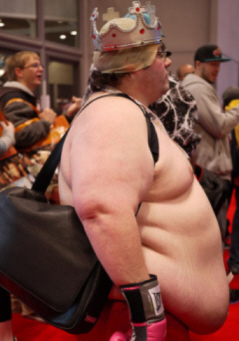 Naked fat king emporer