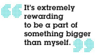 Be a part of something bigger than yourself quote