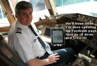 Pilot with ipad tablet