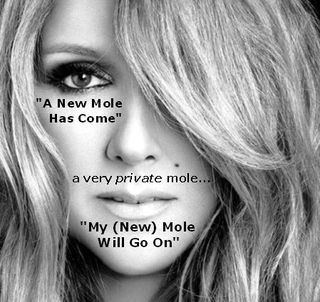 Celine Dion Loved Me Back to Life Album Cover Mole on Face