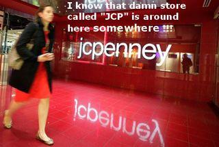 Woman walking past jc_penney store